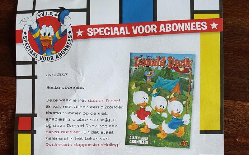 Exclusief bewaarnummer voor Donald Duck abonnees