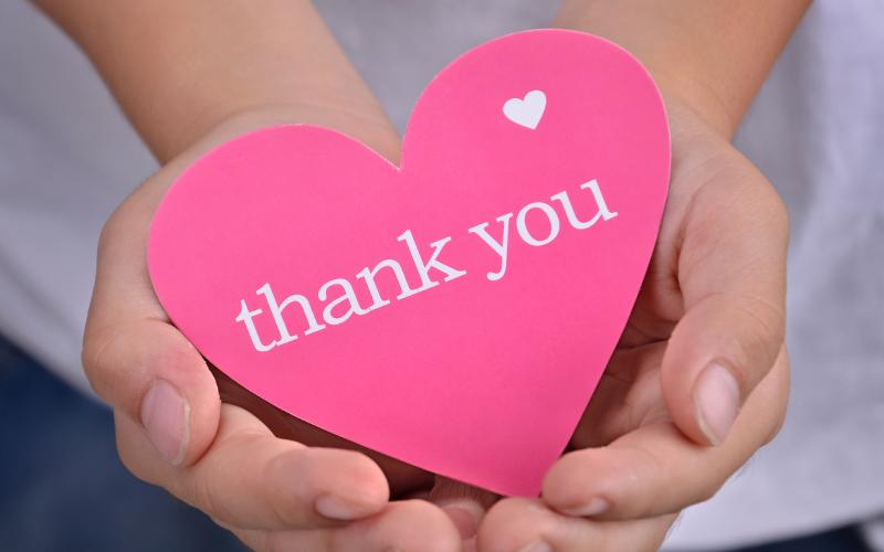 Bedankt voor je steun