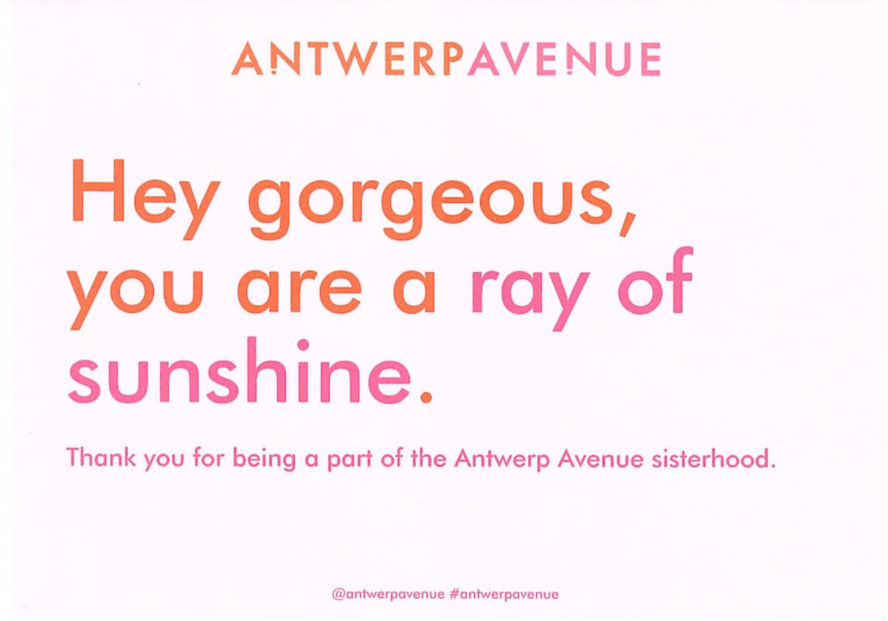 Antwerp Avenue - Bedankt